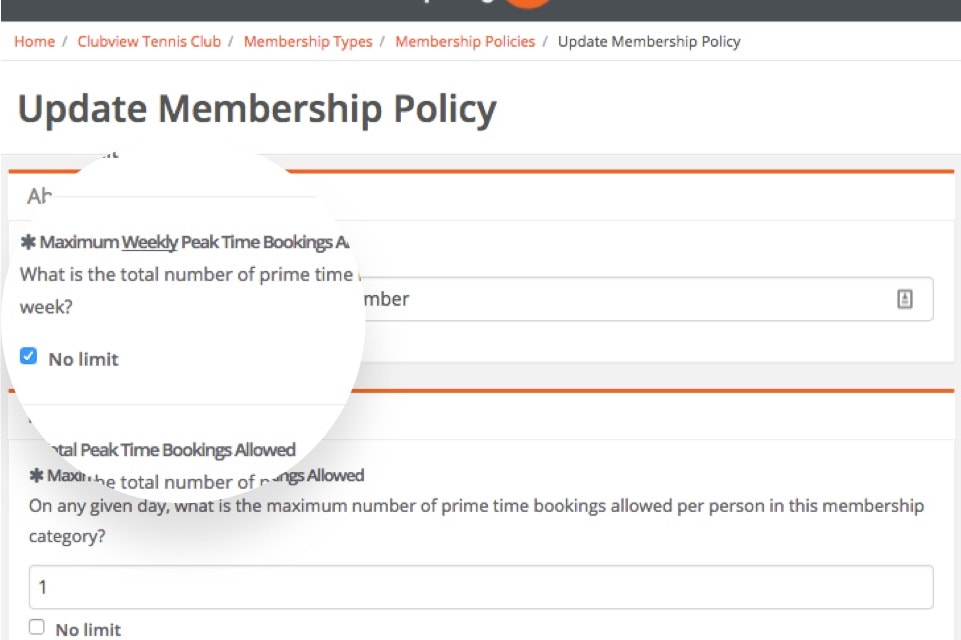 sportyhq Booking policies